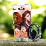 Red Head Under Gods Say You Are Stainless Steel Tumbler, Tumbler Cups For Coffee/Tea, Great Customized Gifts For Birthday Christmas Thanksgiving