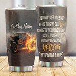 Personalized Hot Rod Tumbler You Only Get One Shot Stainless Steel Vacuum Insulated Double Wall Travel Tumbler With Lid, Tumbler Cups For Coffee/Tea, Perfect Gifts For Birthday Christmas Thanksgiving