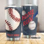 Personalized Baseball Tumbler Home Run Custom Name Gifts For Baseball Players Baseball Lovers  20 Oz Sport Bottle Stainless Steel Vacuum Insulated Tumbler
