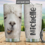 Llama Face Tumbler Cup Personalized, Adorable Llama, Stainless Steel Vacuum Insulated Tumbler 20 Oz, Perfect Gifts For Birthday Christmas, Best Gifts For Llama Lovers, Coffee/ Tea Tumbler With Lid