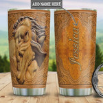 Personalized Horse Tumbler Cup Stainless Steel Vacuum Insulated Tumbler 20 Oz Coffee/ Tea Tumbler With Lid Great Gifts For Birthday Christmas Thanksgiving Perfect Gifts For Horse Lovers