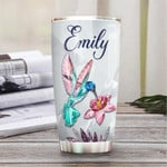 Personalized Enjoy Every Moment Hummingbird Crystal Style Stainless Steel Tumbler, Tumbler Cups For Coffee/Tea, Great Customized Gifts For Birthday Christmas Thanksgiving