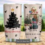 Kitten Christmas With You Personalized Tumbler Cup, Forever In My Heart, Stainless Steel Insulated Tumbler 20 Oz, Perfect Gifts For Cat Lovers, Gifts For Girl On  Birthday Christmas