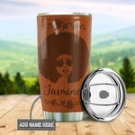 Personalized Black Queen Leather Style Stainless Steel Tumbler, Tumbler Cups For Coffee/Tea, Great Customized Gifts For Birthday Christmas Thanksgiving