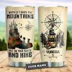 Hiking Is My Life Personalized Tumbler Cup, Put On Boots And Hike, Stainless Steel Insulated Tumbler 20 Oz, Tumbler For Travel, Great Gifts For Birthday Christmas, Special Tumbler For Hiking Lovers