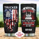 Trucker Personalized Tumbler Cup My Teacher Was Wrong Stainless Steel Vacuum Insulated Tumbler 20 Oz Great Customized Gifts For Birthday Christmas Thanksgiving Coffee/ Tea Tumbler With Lid