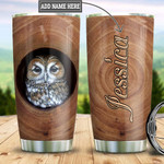 Owl Wooden Style Personalized Tumbler Cup Stainless Steel Insulated Tumbler 20 Oz Best Gifts For Owl Lovers Great Gifts For Birthday Christmas Thanksgiving Coffee/ Tea Tumbler Traveling Tumbler