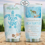 Advice From Sea Turtle Personalized Tumbler Cup The Ocean Is My Home Stainless Steel Vacuum Insulated Tumbler 20 Oz Best Gifts For Birthday Christmas Thanksgiving Tumbler For Coffee/ Tea With Lid