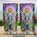 Mandala Elephant Personalized Tumbler Cup Steel Insulated Tumbler 20 Oz Tumbler For Coffee/ Tea With Lid Great Gifts For Birthday Christmas Thanksgiving Best Gifts For Elephant Lovers