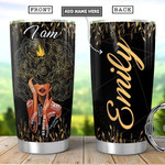 Personalized Butterfly Black Women Tumbler Cup I Am Kind Good Beautiful Black Stainless Steel Insulated Tumbler 20 Oz Best Gifts For Black Girls Great Gifts For Birthday Christmas Thanksgiving