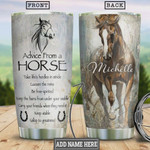 Horse Advice Keep Stable Personalized Tumbler Cup Stainless Steel Insulated Tumbler 20 Oz Travel Tumbler With Lid Great Birthday Christmas Gifts For Horse Lovers Unique Gifts For Friends Relatives
