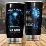 Lion Tumbler Way Maker Miracle Worker Stainless Steel Vacuum Insulated Double Wall Travel Tumbler With Lid, Tumbler Cups For Coffee/Tea, Perfect Gifts For Birthday Christmas Thanksgiving