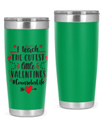 Counselor, I Teach The Cutest The Little Valentine Stainless Steel Tumbler, Tumbler Cups For Coffee/Tea