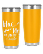 Counselor, Hug Me, I'M Vaccineated Stainless Steel Tumbler, Tumbler Cups For Coffee/Tea