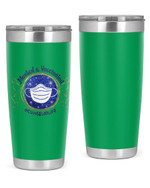 Counselor, Masked & Vaccinated Stainless Steel Tumbler, Tumbler Cups For Coffee/Tea