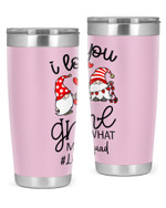 Librarian I Love You Gnome Stainless Steel Tumbler, Tumbler Cups For Coffee/Tea