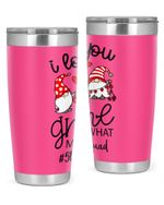 5th Grade Teacher, I Love You Gnome Stainless Steel Tumbler, Tumbler Cups For Coffee/Tea