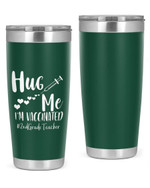 2nd Grade Teacher, Hug Me, I'M Vaccinated Stainless Steel Tumbler, Tumbler Cups For Coffee/Tea