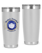 2nd Grade Teacher, Masked & Vaccinated Stainless Steel Tumbler, Tumbler Cups For Coffee/Tea