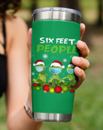 Christmas Six Feet People, Grinch In Green Art Stainless Steel Tumbler Cup For Coffee/Tea