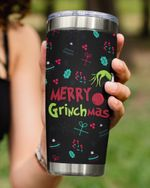 Merry Grinchmas For Grinch, Christmas Stainless Steel Tumbler Cup For Coffee/Tea