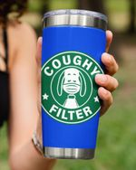 Coughy Filter, Dog Wearing Mask Stainless Steel Tumbler Cup For Coffee/Tea