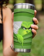 6 Feet People, Grinch Pulling The Curtain Stainless Steel Tumbler Cup For Coffee/Tea
