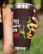 Will Remove For Wine, Grinch And Wine Stainless Steel Tumbler Cup For Coffee/Tea