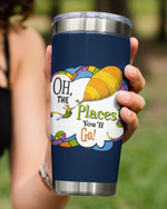 Oh The Places You Go, Travelling On Hot Air Balloon Stainless Steel Tumbler Cup For Coffee/Tea