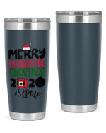 Speech Language Pathologist, Merry Quarantine Christmas 2020 Stainless Steel Tumbler, Tumbler Cups For Coffee/Tea