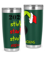 Remote Teaching, The Grinch Christmas Stainless Steel Tumbler, Tumbler Cups For Coffee/Tea