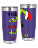 Lunch Lady, The Grinch Christmas Stainless Steel Tumbler, Tumbler Cups For Coffee/Tea