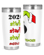 Middle School Teacher, The Grinch Christmas Stainless Steel Tumbler, Tumbler Cups For Coffee/Tea
