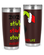 Assistant Teacher, The Grinch Christmas Stainless Steel Tumbler, Tumbler Cups For Coffee/Tea