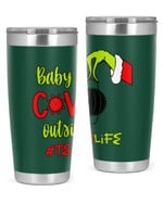 Teacher, Baby Covid Outside Stainless Steel Tumbler, Tumbler Cups For Coffee/Tea