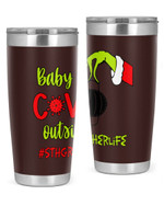 5th Grade Teacher, Baby Covid Outside Stainless Steel Tumbler, Tumbler Cups For Coffee/Tea
