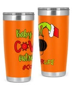 Counselor, Baby Covid Outside Stainless Steel Tumbler, Tumbler Cups For Coffee/Tea