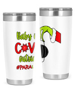 Paraprofessional, Baby Covid Outside Stainless Steel Tumbler, Tumbler Cups For Coffee/Tea