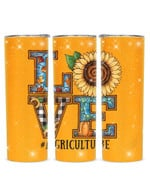 Love Agriculture Sunflower Stainless Steel Tumbler, Tumbler Cups For Coffee/Tea