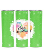 Crisis Interventionist Colorful Heart Stainless Steel Tumbler, Tumbler Cups For Coffee/Tea