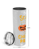 You Can't Scare Me I'm A Childcare Provider Pumpkin And Books Stainless Steel Tumbler, Tumbler Cups For Coffee/Tea