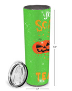 You Can't Scare Me I'm An EL Teacher Halloween Stainless Steel Tumbler, Tumbler Cups For Coffee/Tea