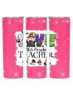 Gnomes Love Being Called 5th Grade Teacher Stainless Steel Tumbler, Tumbler Cups For Coffee/Tea