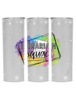 Librarian Squad Stainless Steel Tumbler, Tumbler Cups For Coffee/Tea