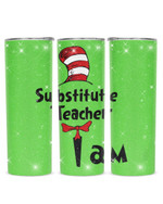 I Am Substitute Teacher Red Hat Stainless Steel Tumbler, Tumbler Cups For Coffee/Tea