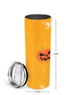 You Can't Scare Me I'm A 4th Grade Teacher Stainless Steel Tumbler, Tumbler Cups For Coffee/Tea