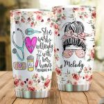 She Works Willingly With Her Hands Tumbler, Awesome Gifts For Nurse Gifts, Gifts For Nurse, Custom Name Tumbler, Nurse Quote, Nurse Gifts, Nurse Appreciation Gift, Job Birthday Gifts