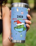 Personalized Custom Date Stink Stank Stunk, Portrait Grinch Stainless Steel Tumbler Cup For Coffee/Tea