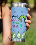 Personalized Custom Date, Christmas Stink Stank Stunk, Dropping Mask Stainless Steel Tumbler Cup For Coffee/Tea