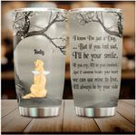 Personalized Memorial Golden Retriever Dog With Wings In Heaven Gift 20oz Stainless Steel Tumbler